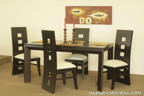 Comedores modernos en madera en medell n for Comedores de madera nuevos
